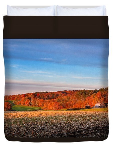New Hampshire Country Duvet Cover