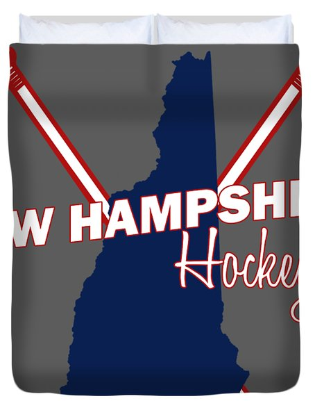 New Hampshire State Hockey Duvet Cover