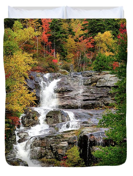 New Hampshire Waterfall Duvet Cover by Betty LaRue