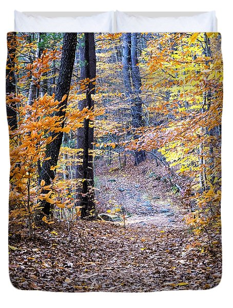 New Hampshire Woods Duvet Cover