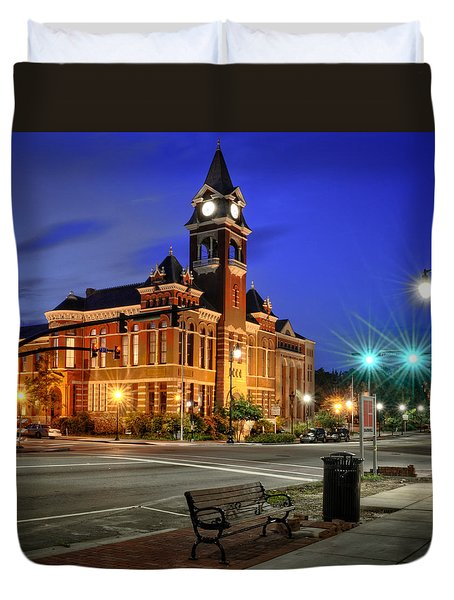 New Hanover County At Night Duvet Cover
