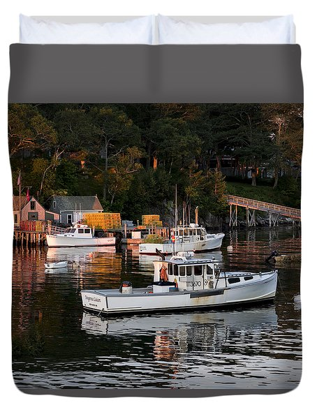 New Harbor, Maine Duvet Cover