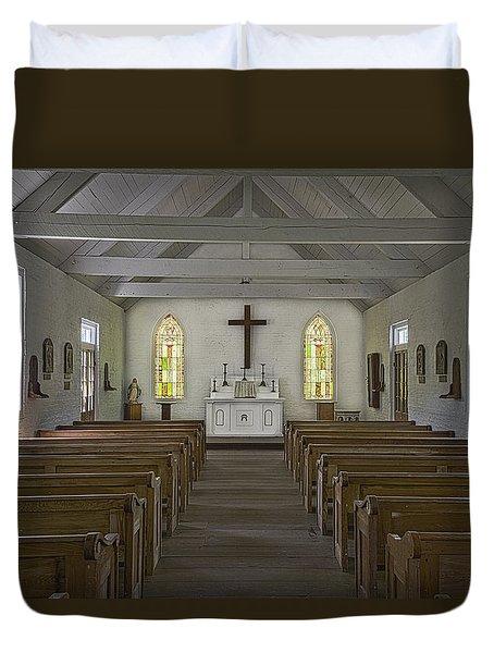 New Hope Chapel Duvet Cover