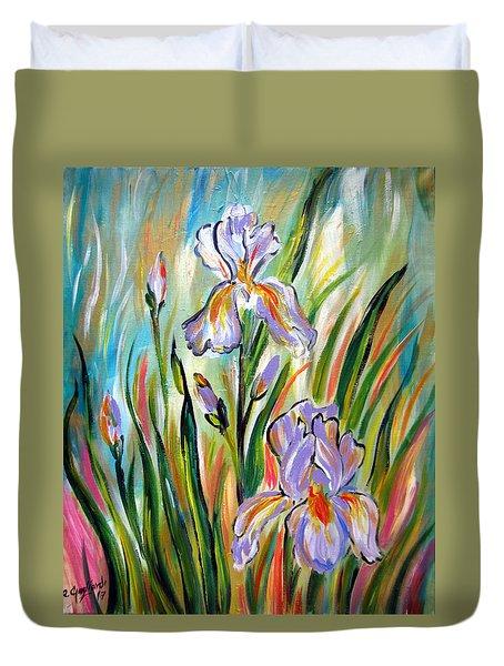 New Irises Duvet Cover