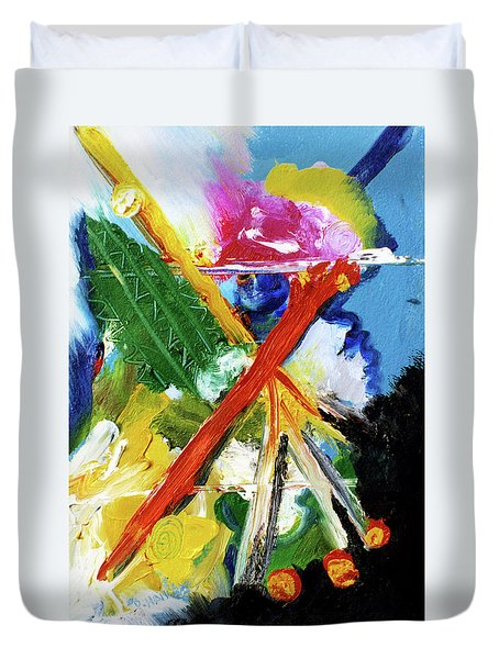 New Island #137 Duvet Cover by Donald k Hall