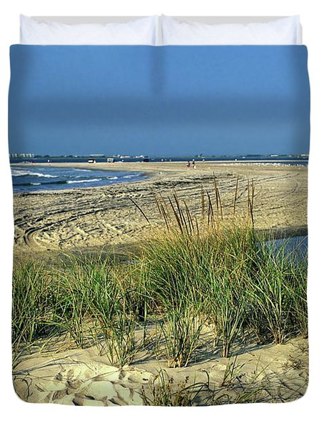 New Jersey Inlet  Duvet Cover by Sally Weigand