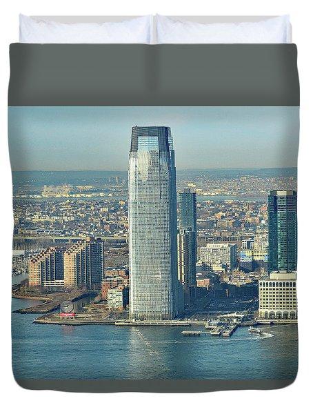 New Jersey Skyline Duvet Cover