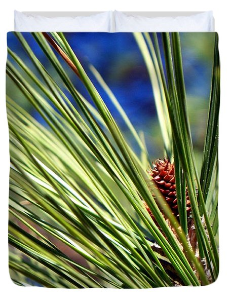 Duvet Cover featuring the photograph New Life by Betty Northcutt