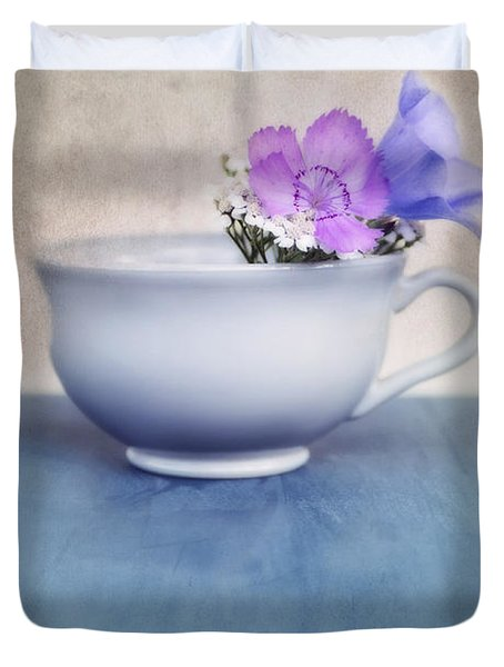 New Life For An Old Coffee Cup Duvet Cover by Priska Wettstein