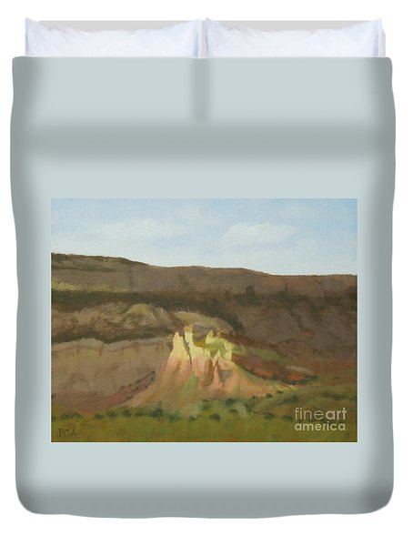 New Mexican Statues Duvet Cover