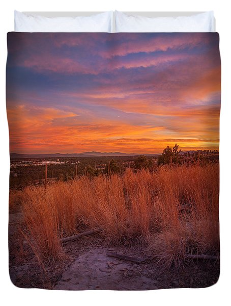 New Mexican Sunset Duvet Cover