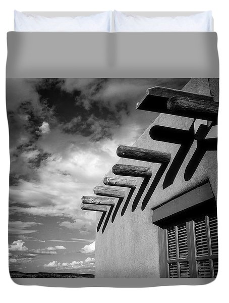 Duvet Cover featuring the photograph New Mexico Afternoon by Ross Henton