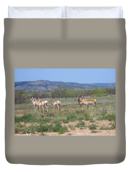 New Mexico Antelope 1 Duvet Cover by Sheri Keith