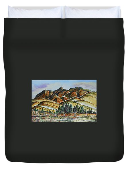 New Mexico Back Country Duvet Cover by Terry Banderas