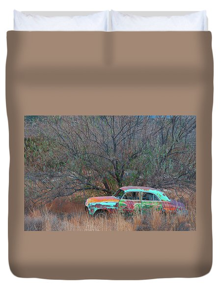 Duvet Cover featuring the photograph New Mexico Blue by Carolyn Dalessandro