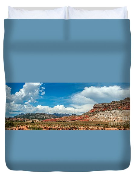 Duvet Cover featuring the photograph New Mexico by Gina Savage