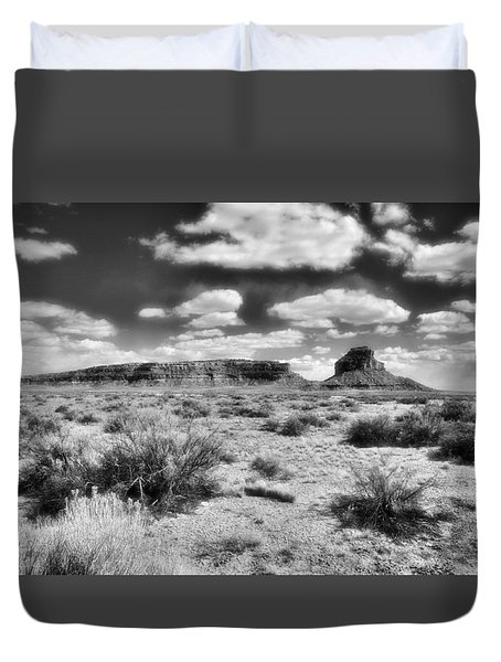 Duvet Cover featuring the photograph New Mexico by Jim Walls PhotoArtist