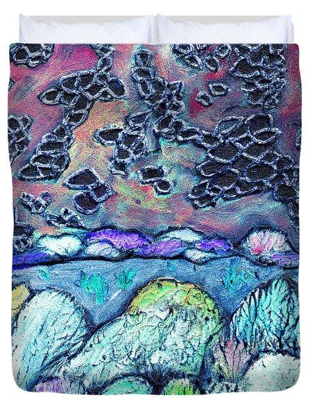 New Mexico Landscape Duvet Cover by Wayne Potrafka