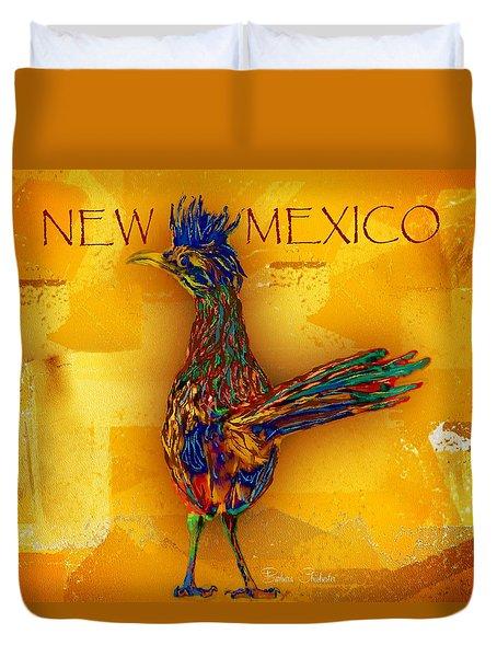 New Mexico Roadrunner Duvet Cover