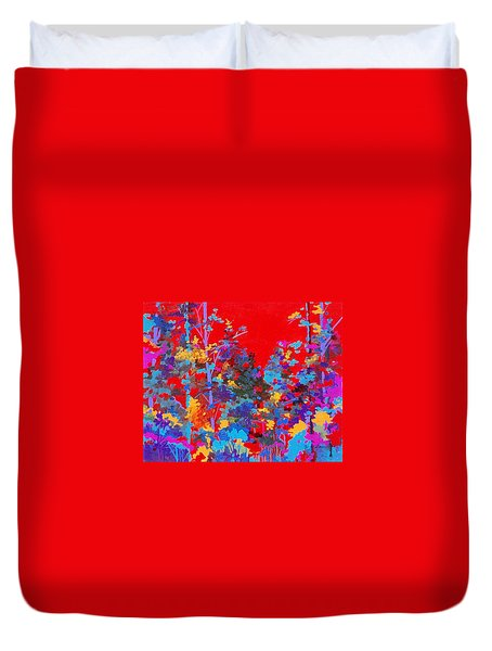 New Mexico Woods Duvet Cover
