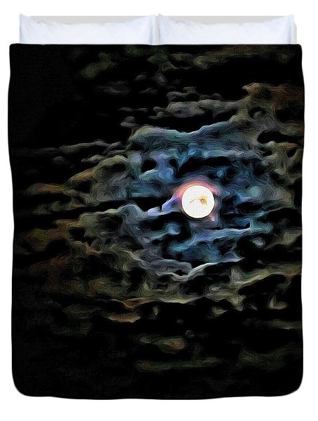 Duvet Cover featuring the photograph New Moon by Al Harden
