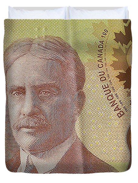 New One Hundred Canadian Dollar Bill Duvet Cover