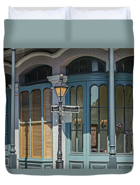 Duvet Cover featuring the photograph New Orleans - Architecture by Allen Sheffield
