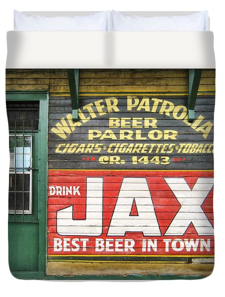 New Orleans Beer Parlor Duvet Cover