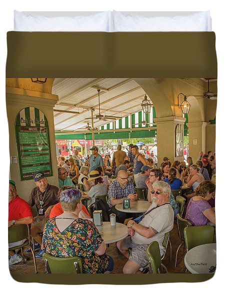 New Orleans - Cafe Du Monde Duvet Cover