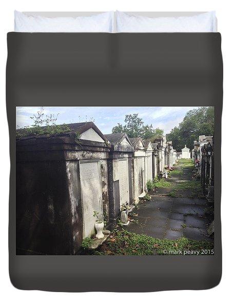 New Orleans Cemetery Duvet Cover