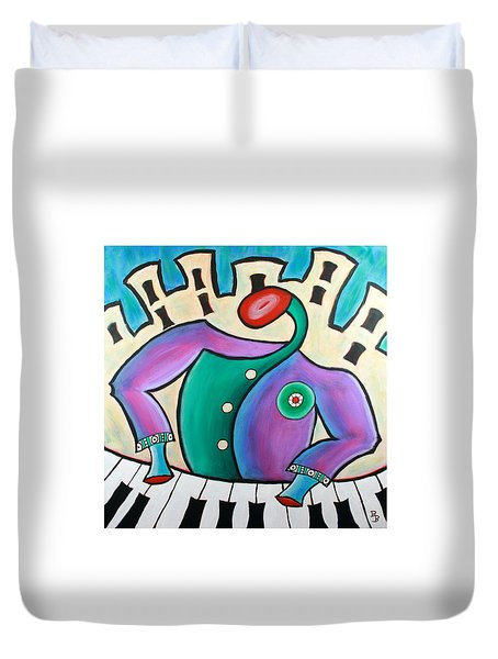 New Orleans Cool Jazz Piano Duvet Cover