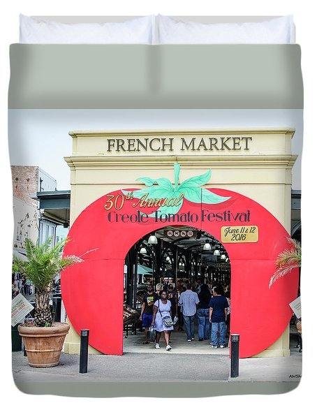New Orleans French Market Duvet Cover