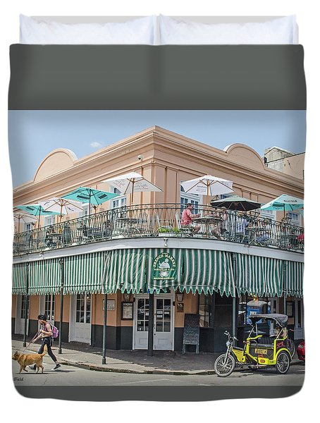 New Orleans - French Market Cafe Duvet Cover