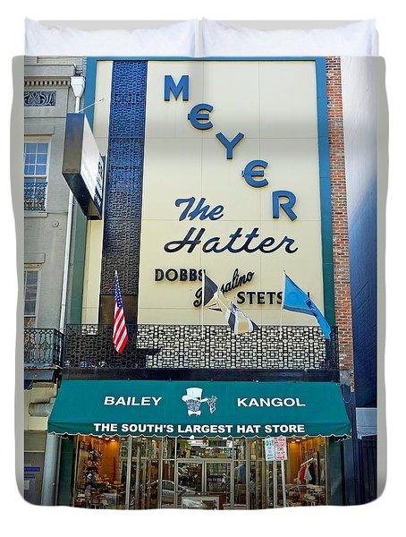 New Orleans Hatter Duvet Cover