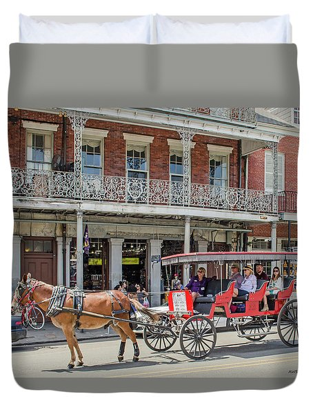 New Orleans - Horse Drawn Carriage Duvet Cover
