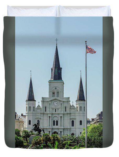 New Orleans - Jackson Square 2 Duvet Cover