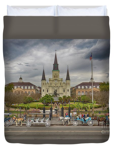 New Orleans Jackson Square Duvet Cover