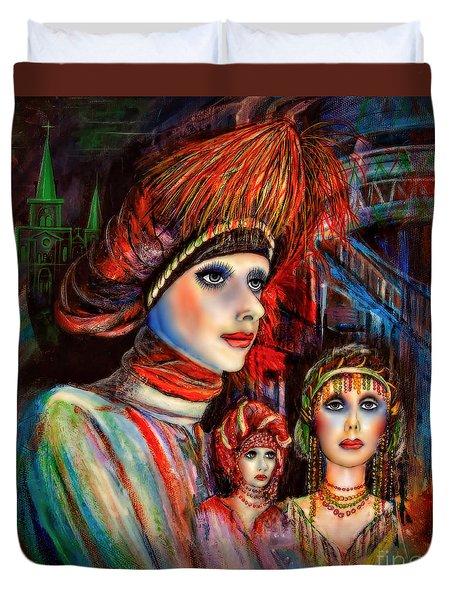New Orleans Live Mannequins Duvet Cover by Walt Foegelle