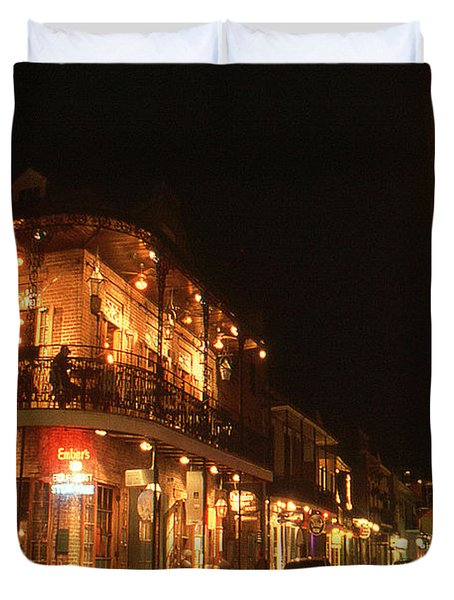 New Orleans Jazz Night Duvet Cover