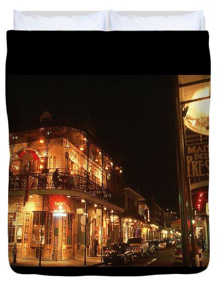 New Orleans Jazz Night Duvet Cover