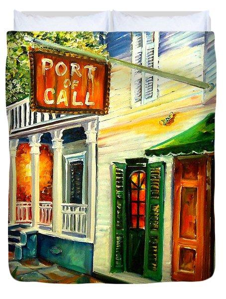 New Orleans Port Of Call Duvet Cover