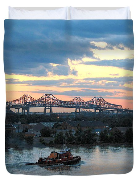 New Orleans Riverfront Duvet Cover