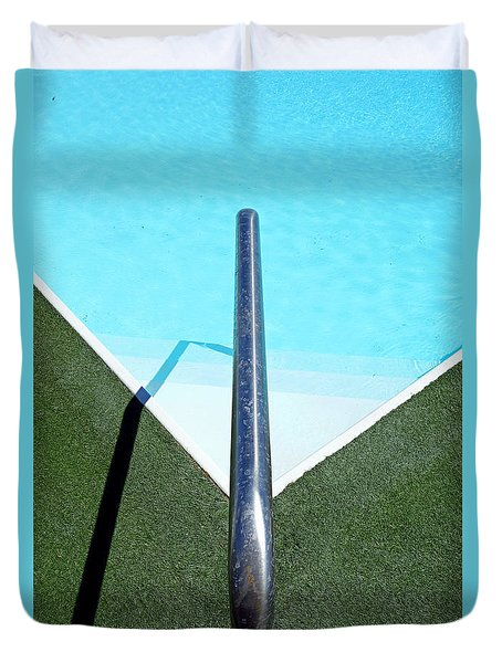 New Orleans Rooftop Pool Duvet Cover