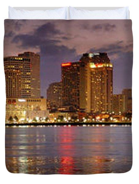 New Orleans Skyline At Dusk Duvet Cover