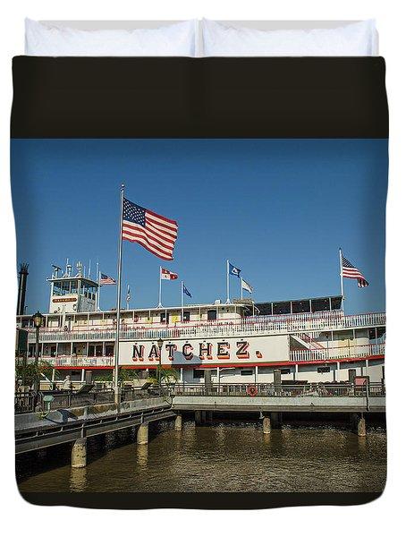 New Orleans - Steamboat Natchez Duvet Cover