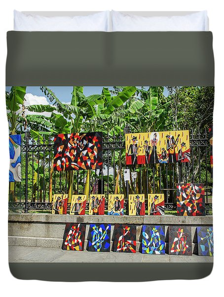 New Orleans Street Artists Duvet Cover