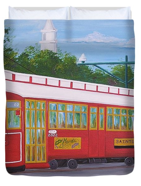 New Orleans Streetcar Duvet Cover