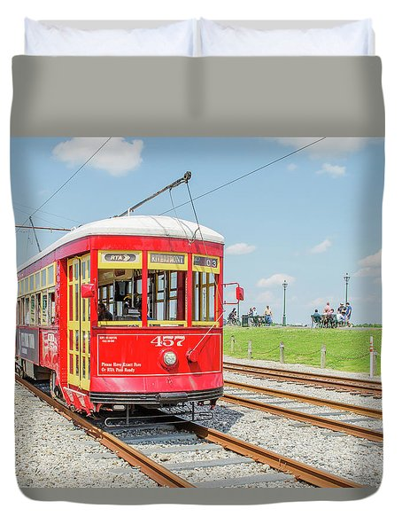 New Orleans Trolley Duvet Cover