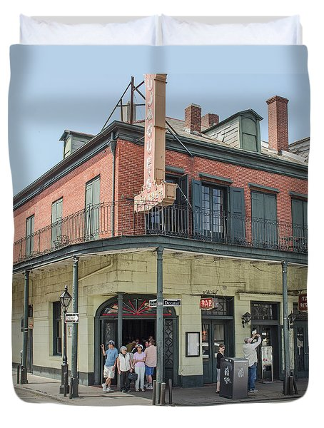 New Orleans - Tujagues Cafe Duvet Cover