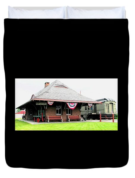 New Oxford Pennsylvania Train Station Duvet Cover by Angela Davies